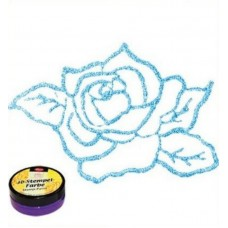 3d Stempel Farbe 50ml_Viva Decor Light Blue Metallic 908