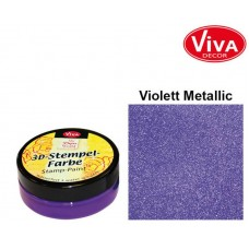 3d Stempel Farbe 50ml_Viva Decor Violet Metallic 911