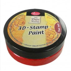 3d Stempel Farbe 50ml_Viva Decor Carmine Red Metallic 912
