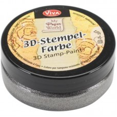 3d Stempel Farbe 50ml_Viva Decor Steel Metallic 915
