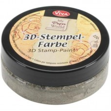 3d Stempel Farbe 50ml_Viva Decor SilverGold Metallic 916